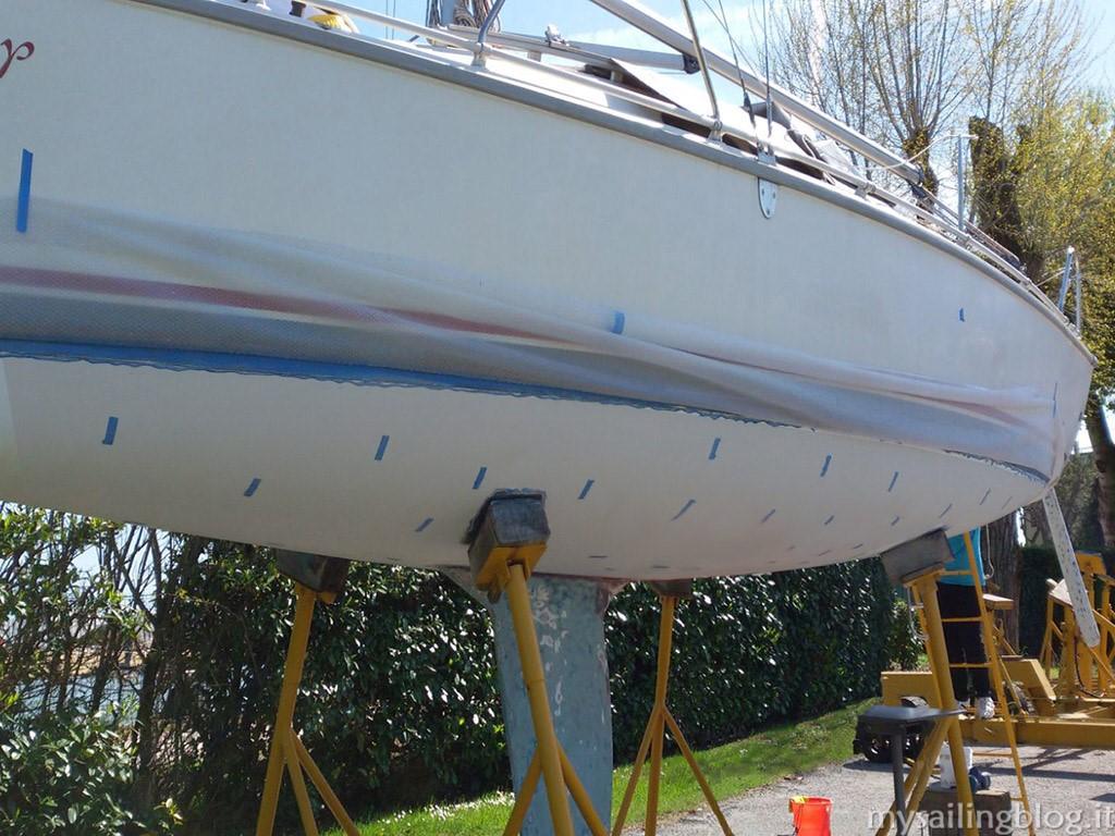 Parti Di Una Barca il trattamento epossidico antiosmosi - my sailing blog